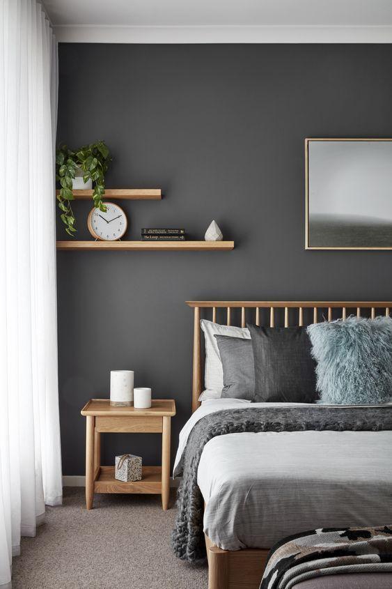 скандинаский дизайн оттенки спальни