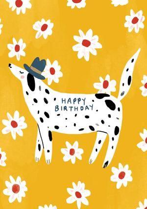 с днем рождения картинка собака
