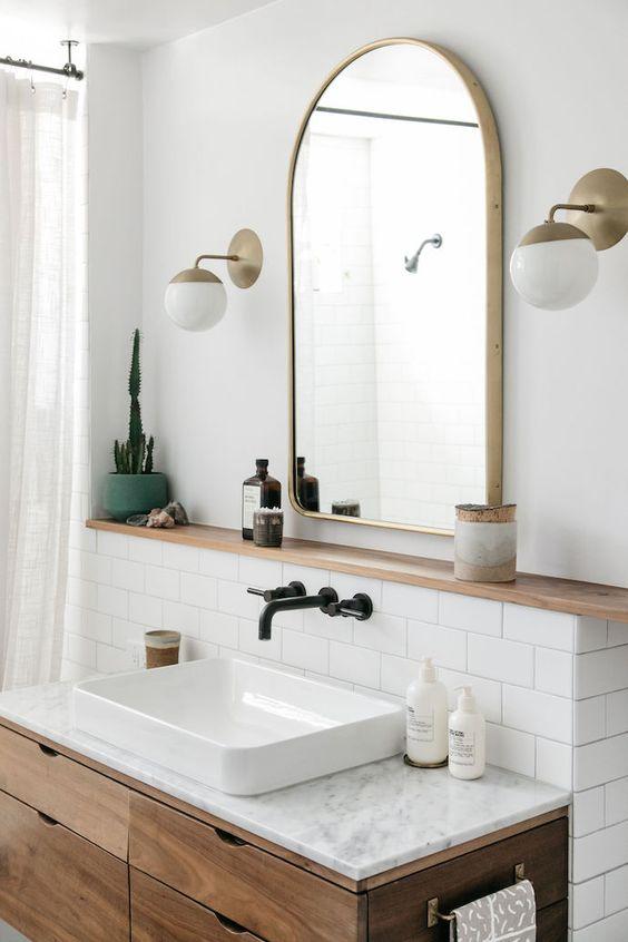 скандинаский интерьер ванная