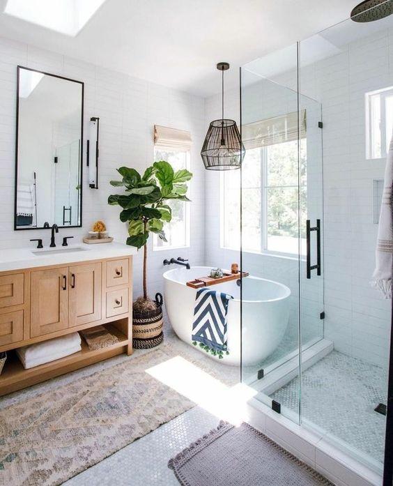скандинаский интерьер ванная комната