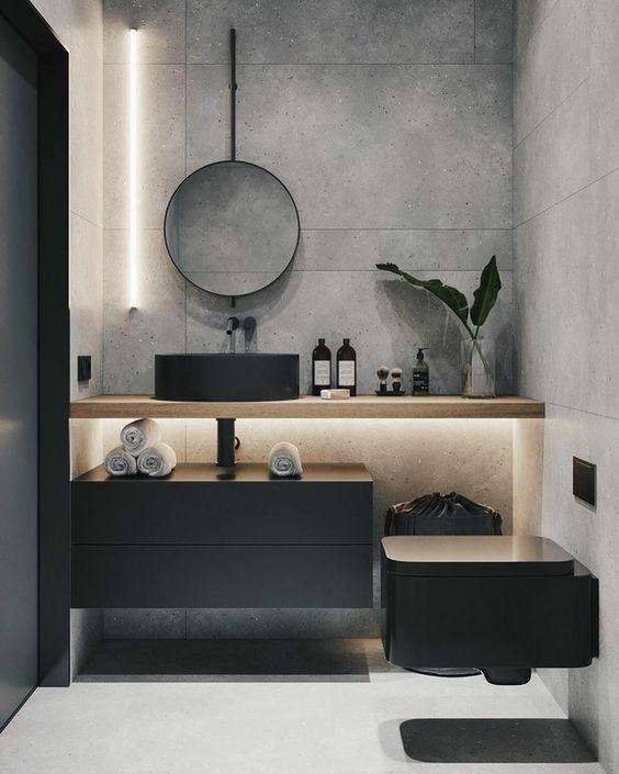 скандинаский дизайн ванная комната