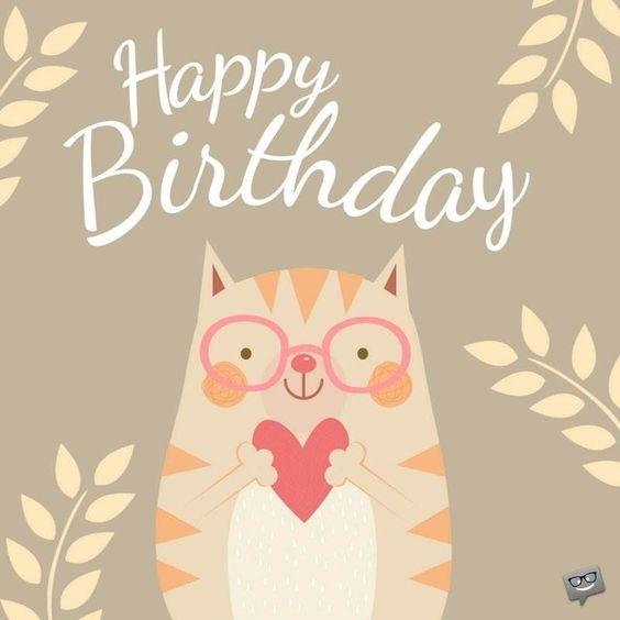 с днем рождения картинка с котиком