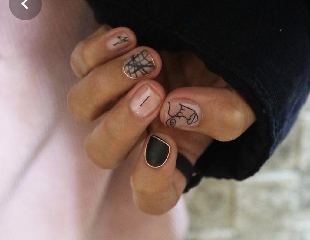 необычный маникюр на короткие ногти