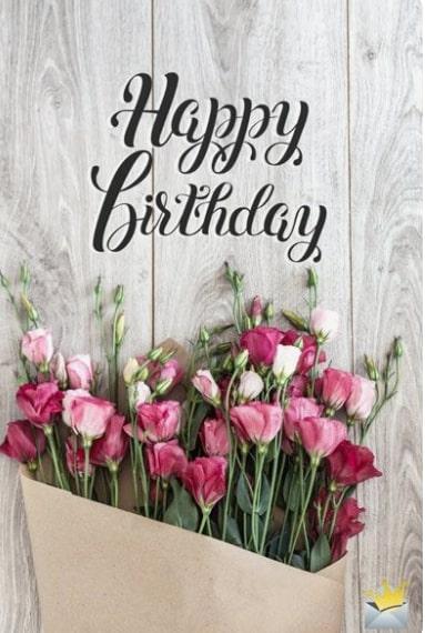 открытка с днем рождения букет