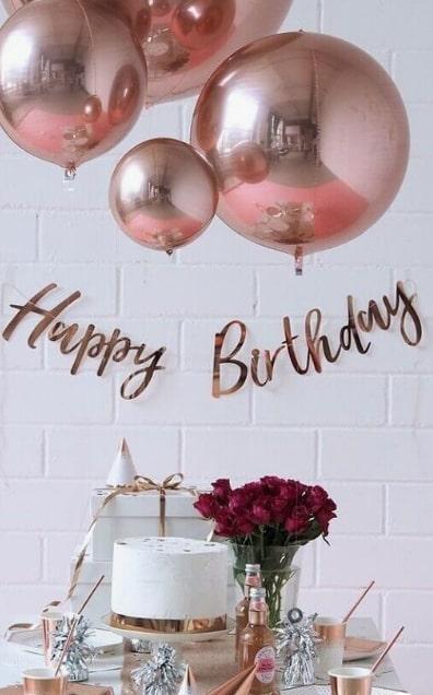 открытка с днем рождения шары