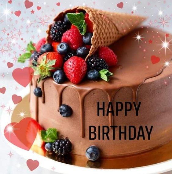 с днем рождения красивый торт