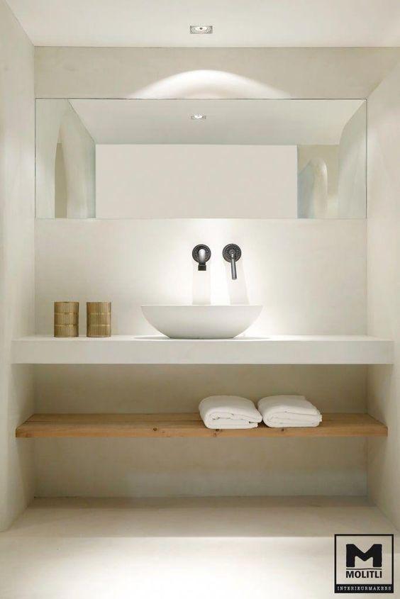 ванная в стиле минимализм интерьер