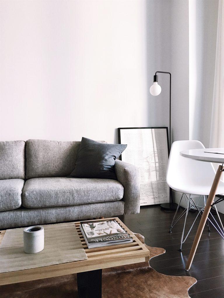 скандинаский дизайн гостиная