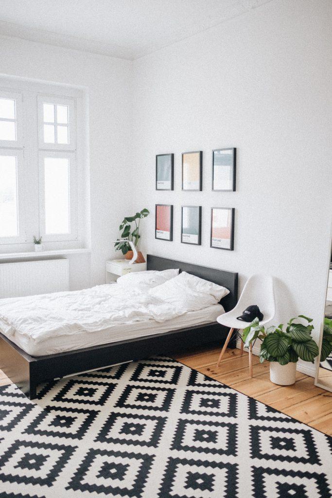 скандинаский дизайн спальня