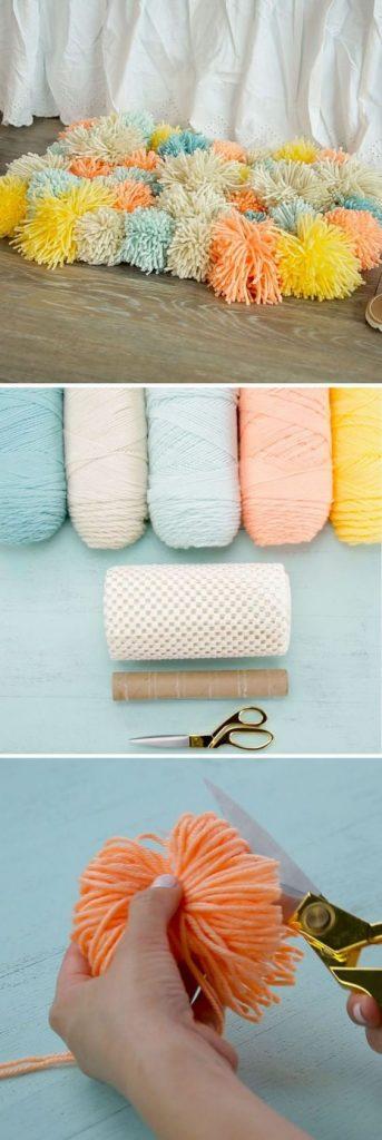 килимок з помпонів