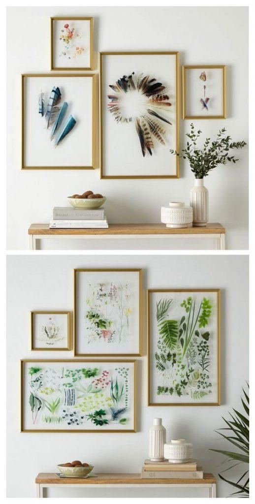 Картинки на стіні в інтер'єрі гербарій