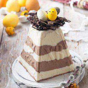 Рецепт сирної паски — шоколадна паска «Зебра»