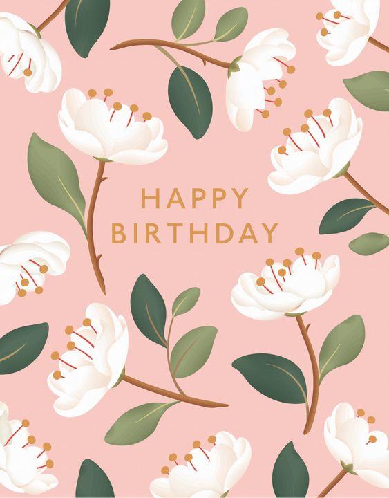 листівка з днем народження квіти