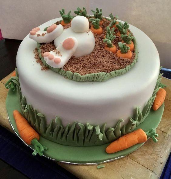 морковный торт украшения