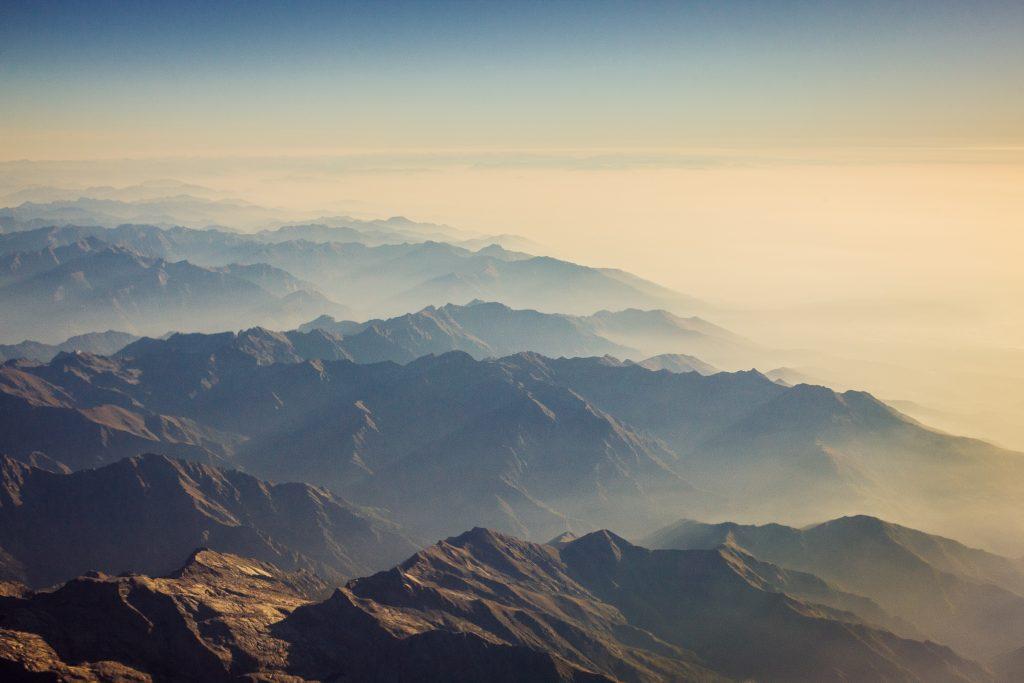 красива картинка небо і гори