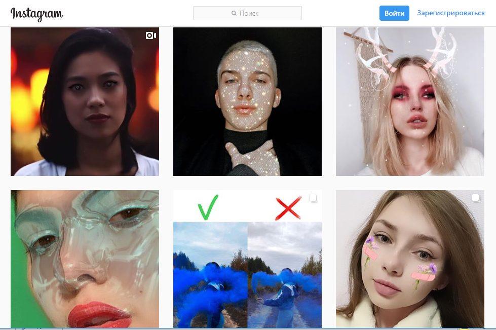 Де шукати маски в Instagram