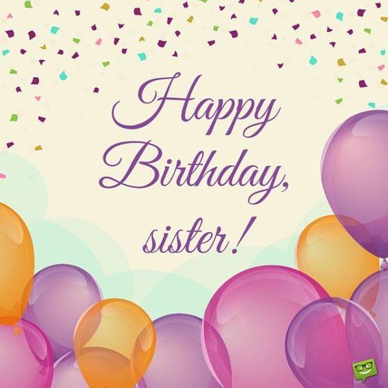 Привітання з днем народження сестрі