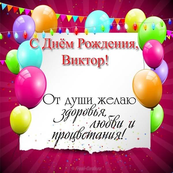З днем народження Віктор картинки