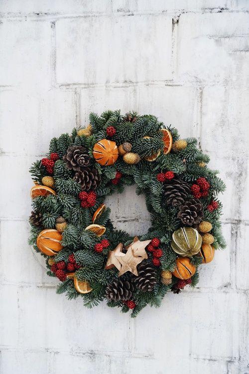 новорічний святковий вінок  5