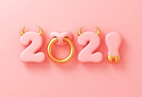 новий рік 2021 металевого бика