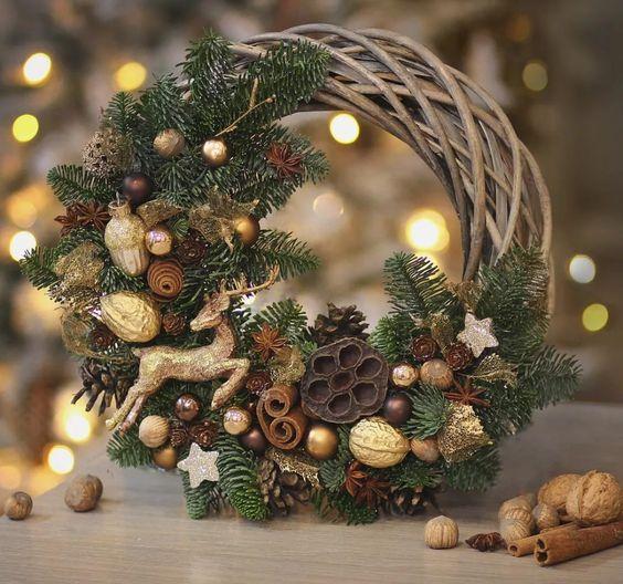 новорічний святковий вінок 4
